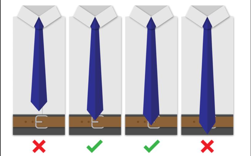 Lungime corecta cravata